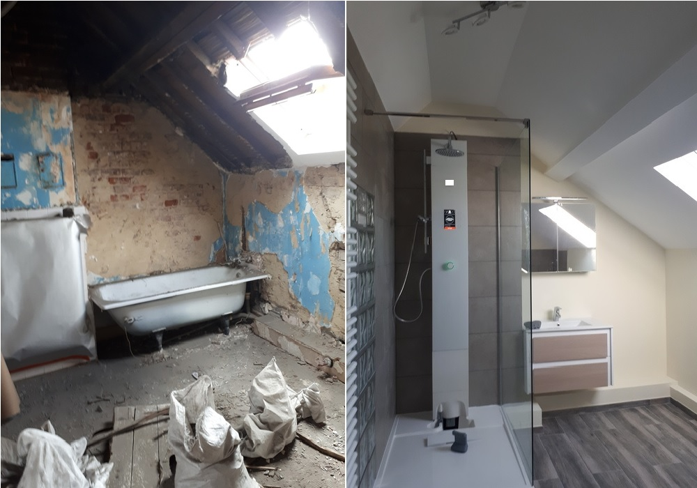 Rénovation Et Aménagement Complète Du0027une Salle De Bain Au Meilleur Rapport  Qualité/prix.